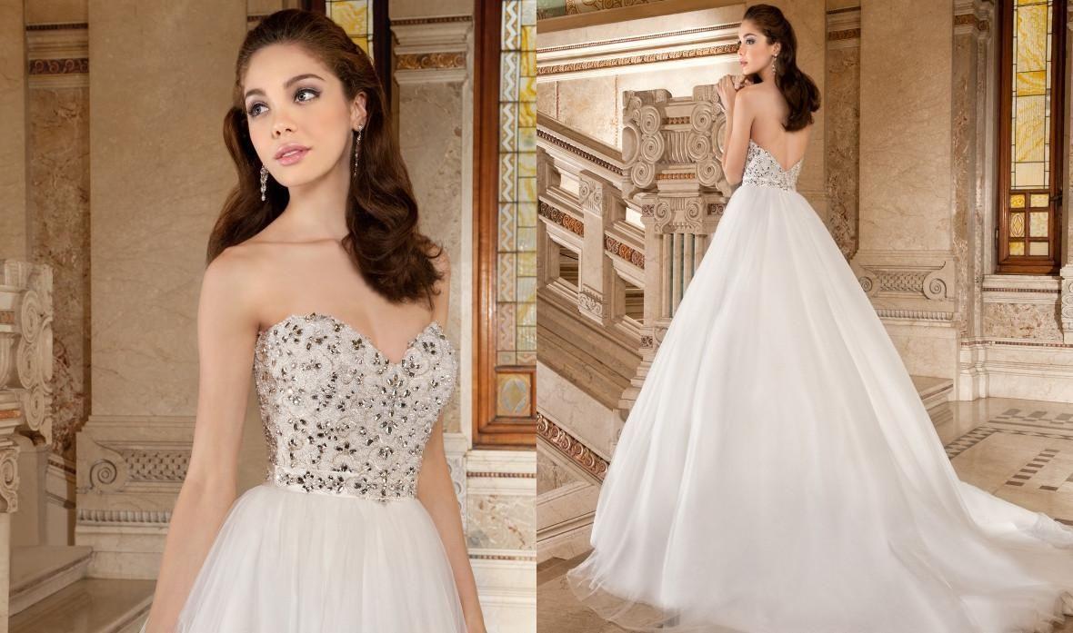 Wholesale Demetrios Wedding Dresses : Wedding dresses demetrios white tulle dress a line