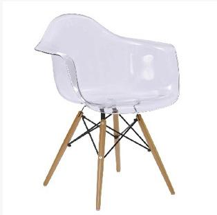 2018 Eames Chair Solid Wood Dining Chair Scandinavian Armchair Chair Transparent Simple Fashion