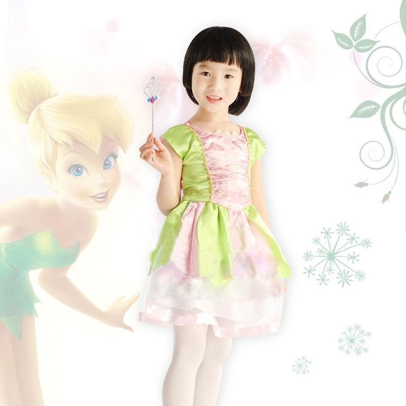 girls tinkerbell princess fairy dress halloween costume for kids girls angel green fairy dress fairy tutu dress in stock girls tinkerbell dress princess - Kids Angel Halloween Costume
