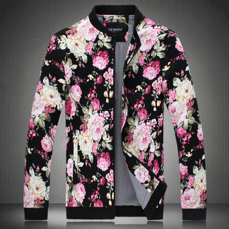 2015 Sport Jacket Men Polo Flower Jacket Plus Size Outerwear ...