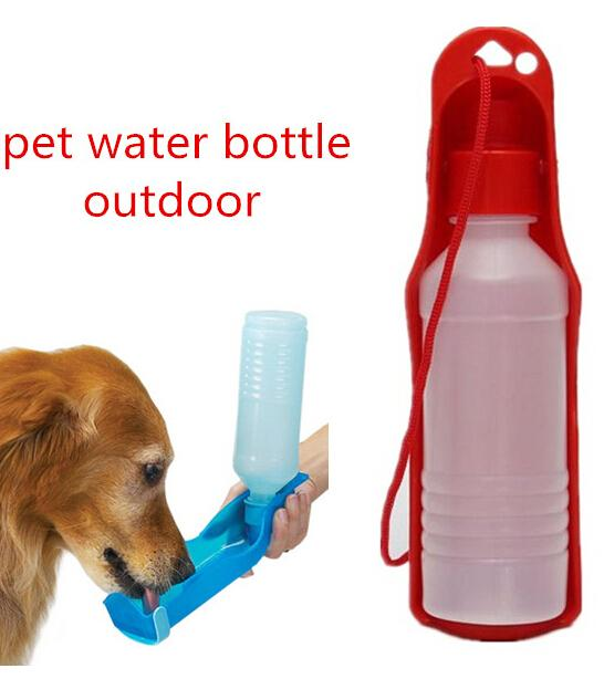 Portable Water Bottle And Bowl For Your Dog: 250ml Outdoor Portable Pet Dog Water Bottles Foldable Tank