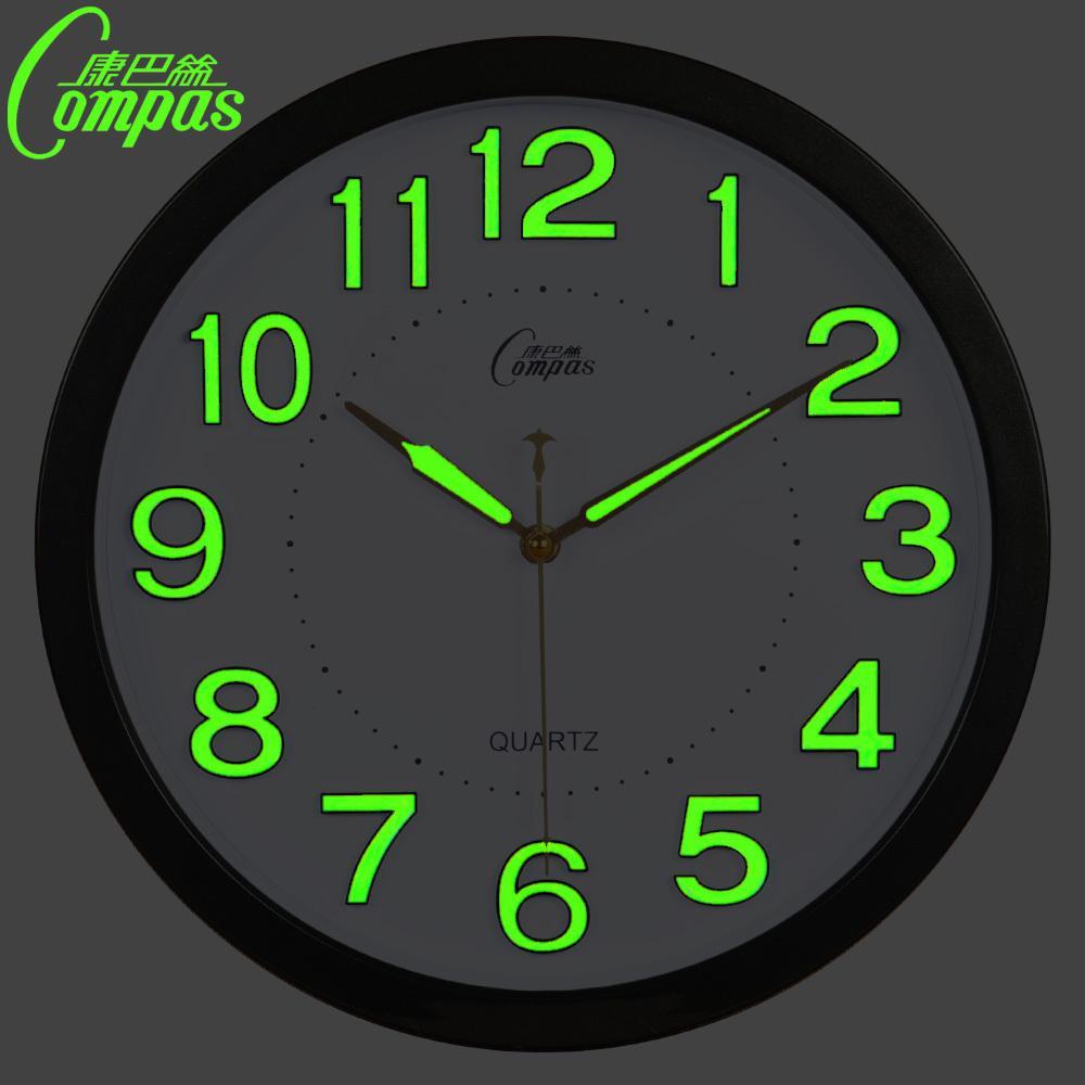 14 inch glow in the dark wall clock modern design with