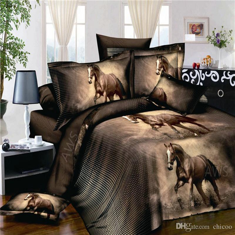 3d Bed Set Horse Printed Bedding Animal Print Bedspread