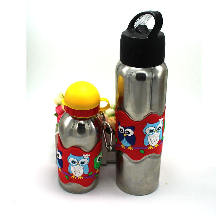 high quantity water bottles stainless steel red pvc soft