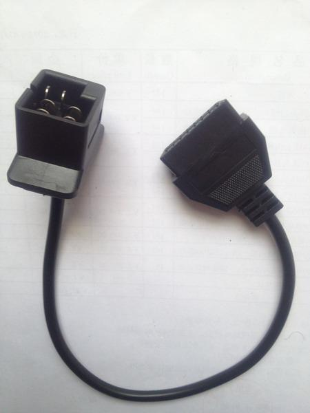 obd1 6pin to obd2 16pin diagnostic adaptor for chrysler. Black Bedroom Furniture Sets. Home Design Ideas