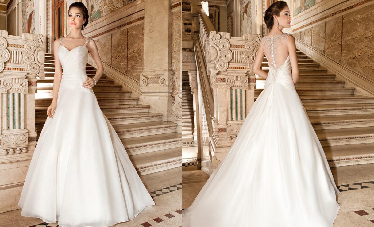 Wholesale Demetrios Wedding Dresses : Discount demetrios wedding dresses a line beading crystals