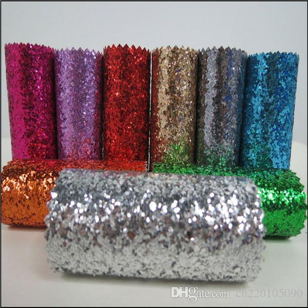 25m wholesale pu glitter fabric wallpaper as europe type for Cheap glitter wallpaper