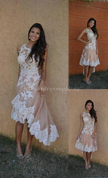 Beach high low wedding dresses 2016 hot sale pretty girls for High low wedding dresses for sale