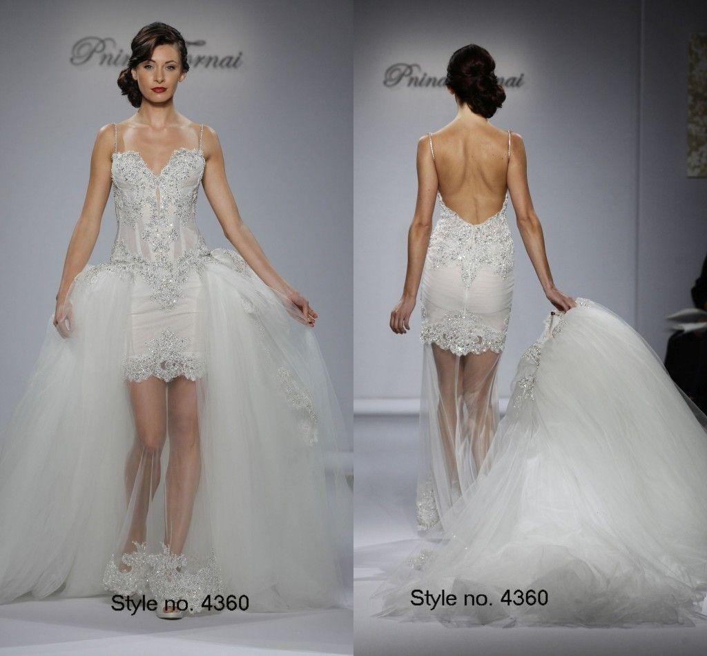 2016 Pnina Torna Crystals Backless Wedding Dresses