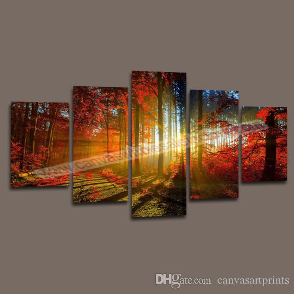 product  panel forest painting canvas wall art picture