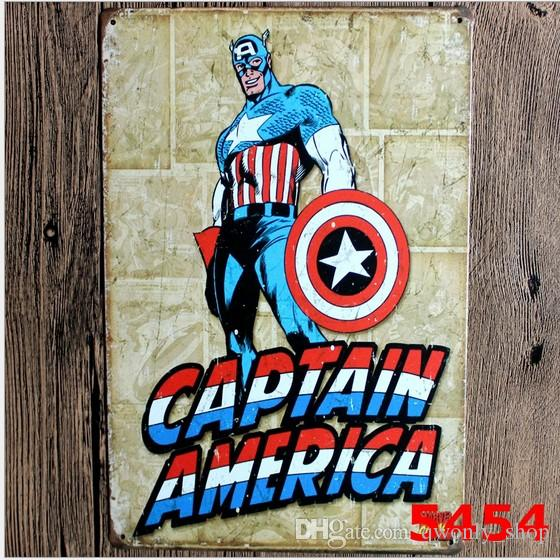 Captain America Metal Tin Sign Marvel Comic Book The Avengers Movie Posters  Wall Art Hanging Children. Captain America Metal Tin Sign Marvel Comic Book The Avengers