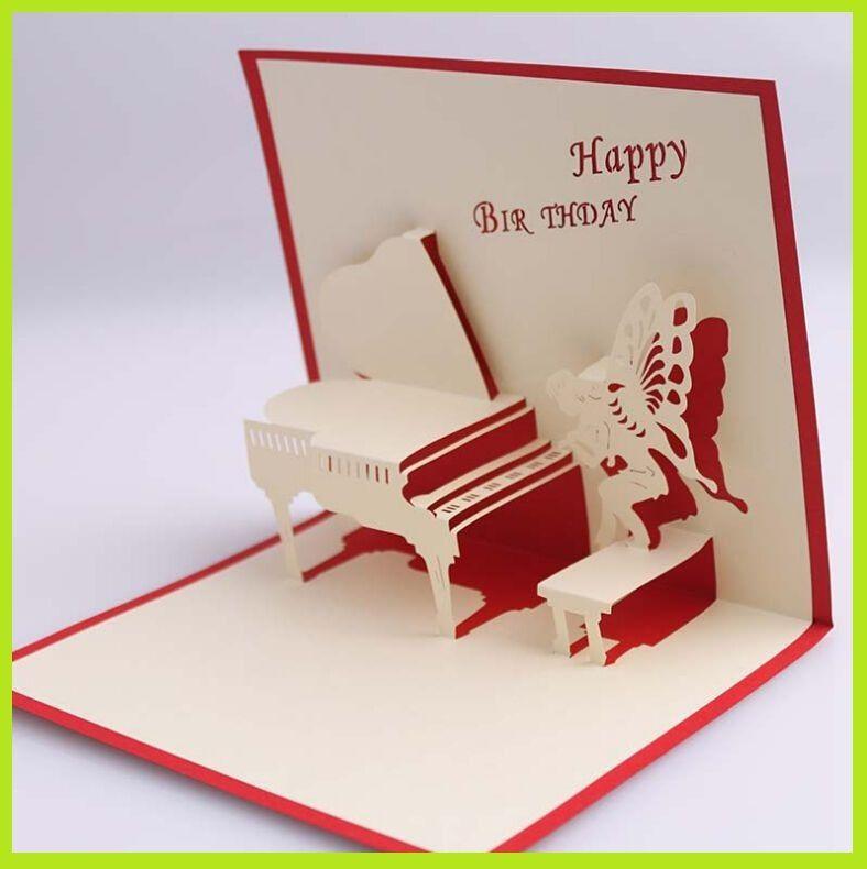 3d Handmade Card Happy Birthday Gift Box007 Butterfly Creative – Happy Birthday Gift Card