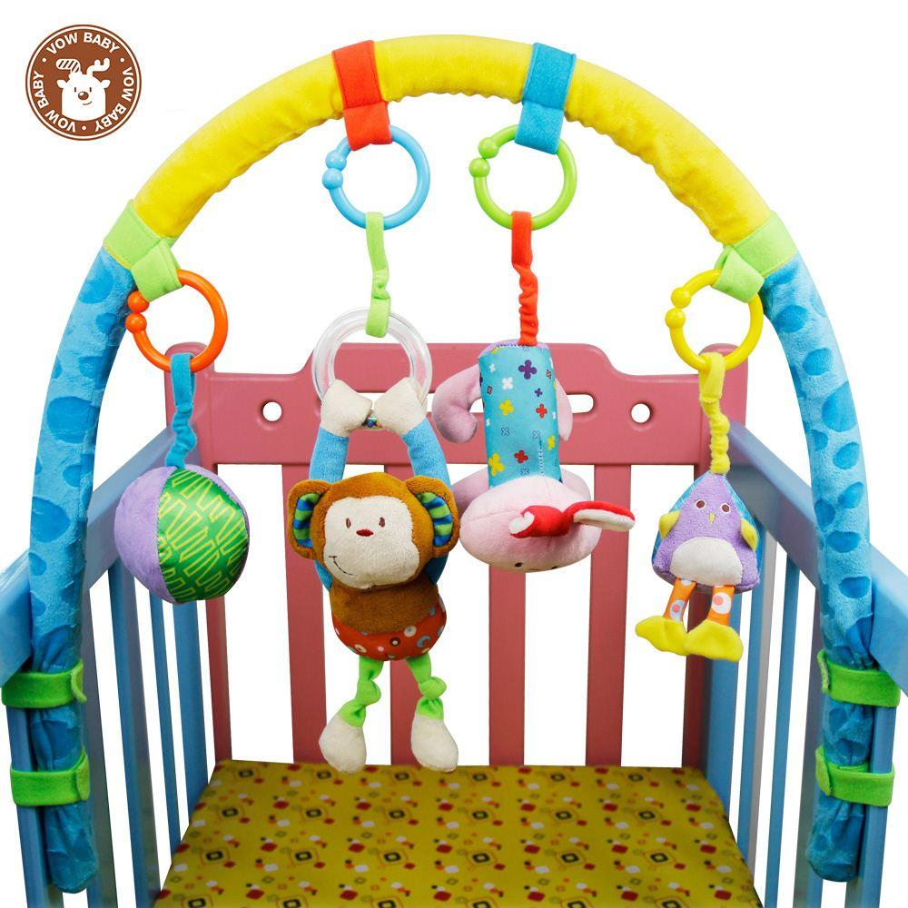 Baby Toys 0 6 Months : Baby toys months puzzle fun bed bell