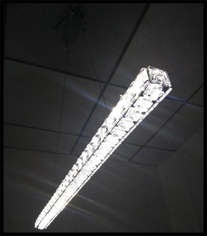 ac 110v 220v 230v modern l70cm long bar led crystal chandelier dining. Black Bedroom Furniture Sets. Home Design Ideas