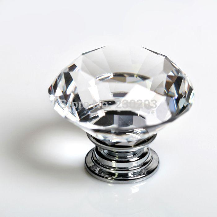 Acheter 40mm Clair Cristal De Diamant De Verre En Forme De