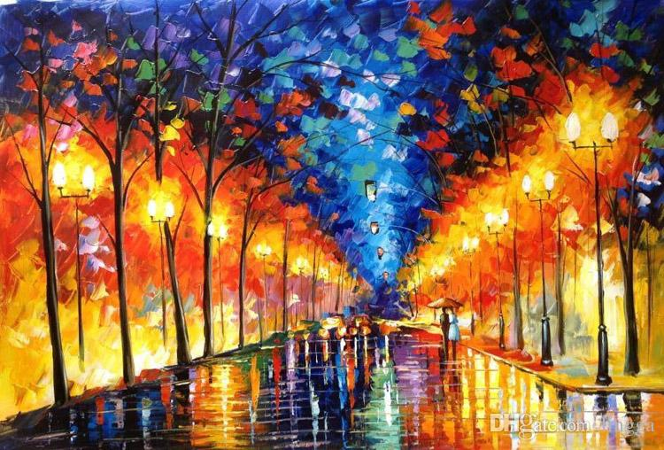 Wholesales Canvas Painting 100 Hand Painted Romantic