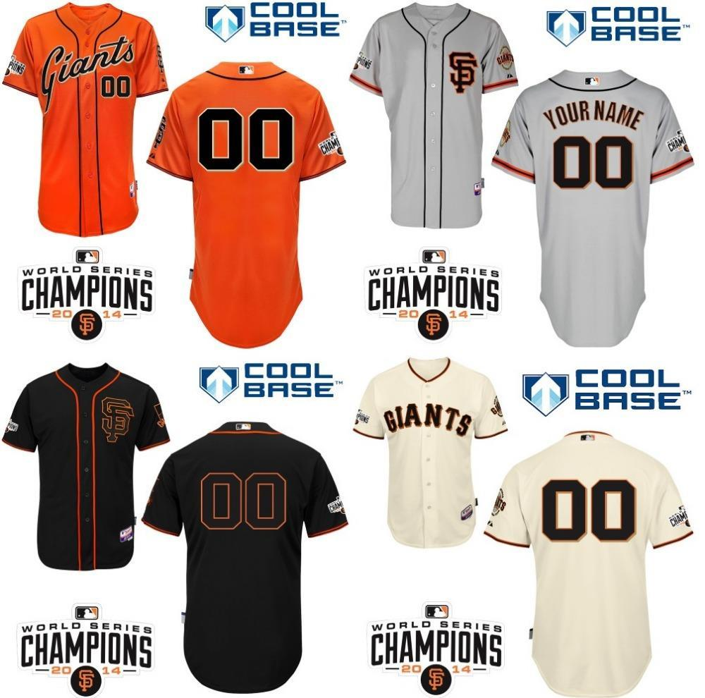 30 Equipes - Maillot de base-ball personnalisé San Francisco Giants mlb Maillot