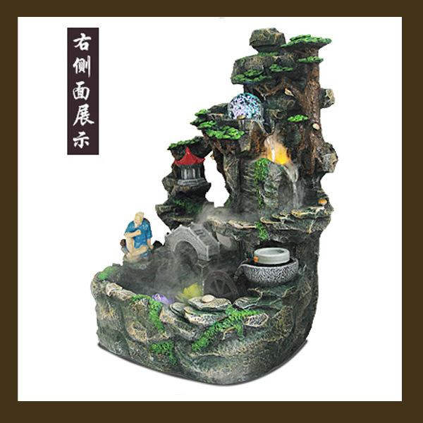 2017 Living Room Feng Shui Round Bonsai Aquarium Fish Pond Rockery Water Fountain Humidifier