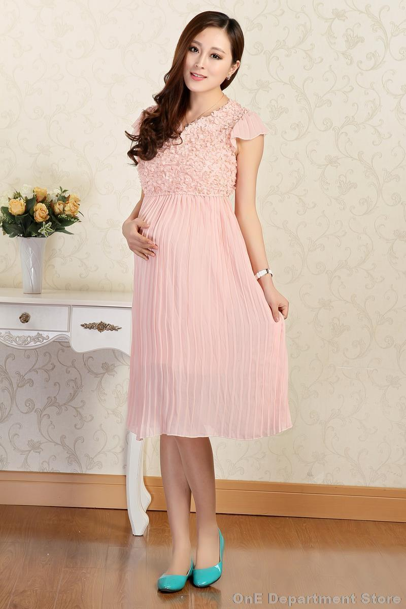 2014 Summer Fashion Short Sleeve Pregnancy Clothes For Pregnant Women Dress Pregnant Maternity Chiffon Dresses Gravida