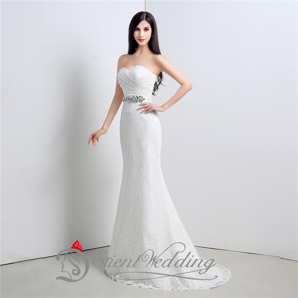 Hüllen-Art Hochzeitskleid