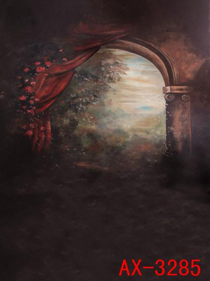 Curtains Ideas curtain paintings : 2017 Fantasy Dark Red Curtain Paintings Indoor Wedding Photo ...