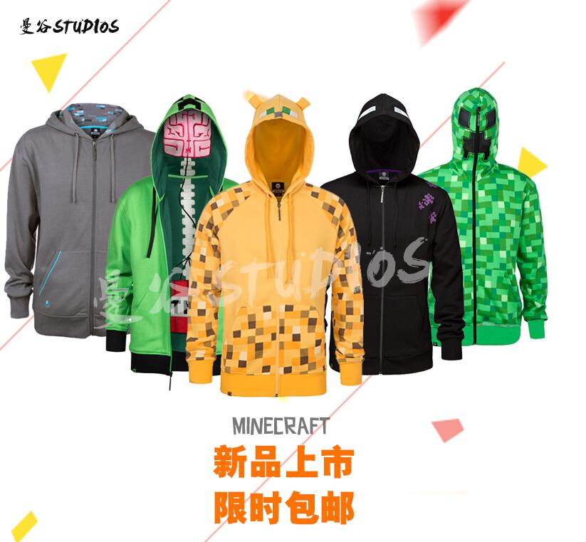 IN STOCK MINECRAFT Hoodie Creeper Hoodie Coat sweatershirts Creeper