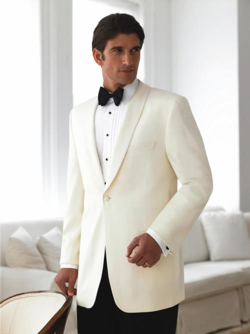 Hot Sale Ivory Wedding Suits For Men White Mens Suits Shawl Lapel