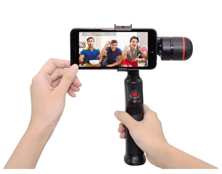 2017 selfie 2 axis motor gimbal stabilizer for smart phones and mini action camera fit for below. Black Bedroom Furniture Sets. Home Design Ideas