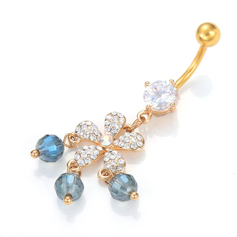 2016 wholesale dangle belly button rings gold