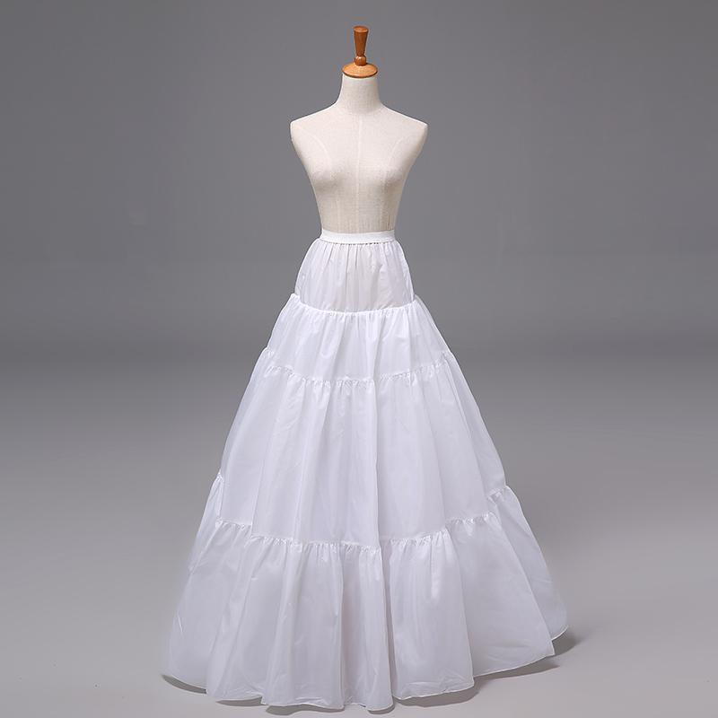2015 Cheap Petticoats In Stock Bridal Underskirt Crinoline Free Size No Hoops Skirt Bridal Slip