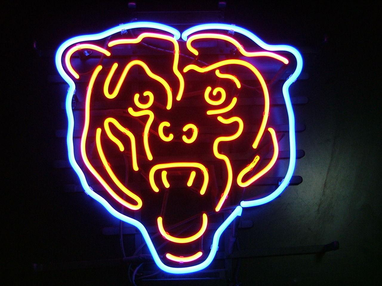 2017 New Bear Neon Sign Handicraft Real Glass Tube Signs