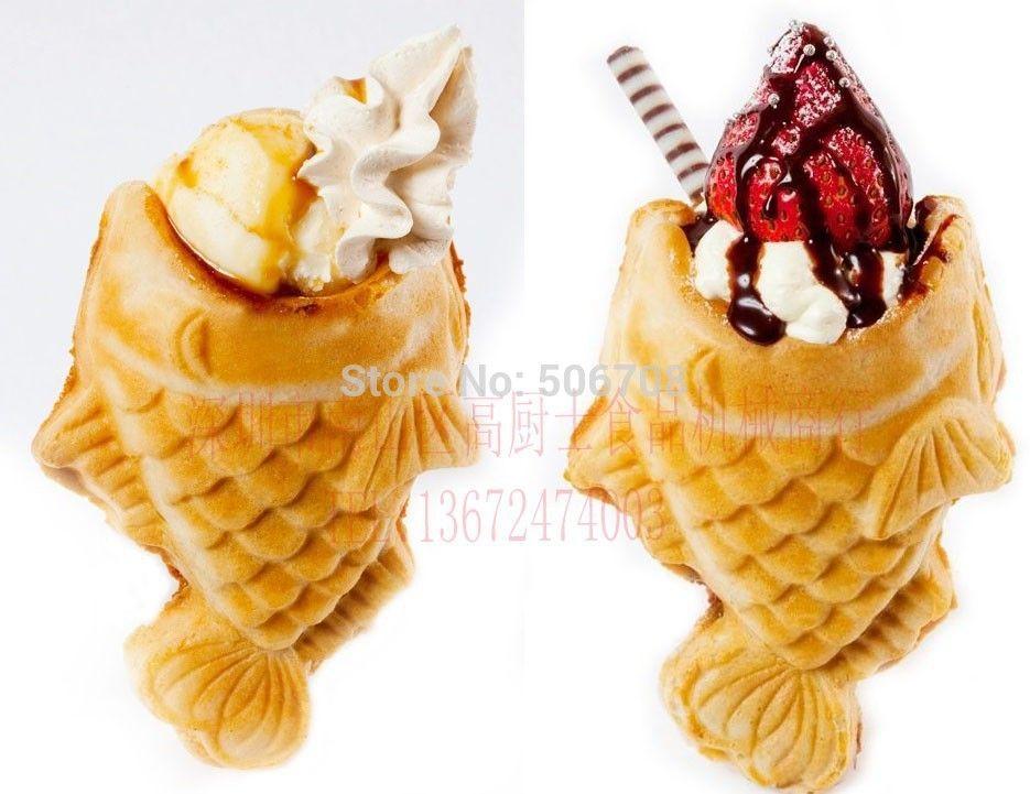 New product electric ice cream taiyaki machine taiyaki pan for Fish ice cream