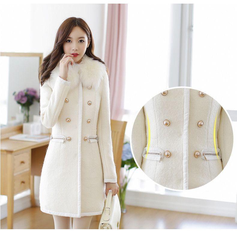 2014 New Winter Coat Korean Women Slim Woolen Cashmere Wool Coat ...