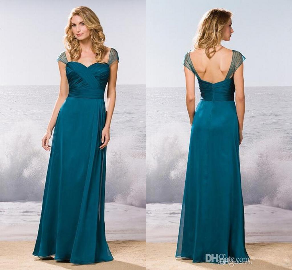 2016 Teal Green Bridesmaid Dresses Empire Sleeveless