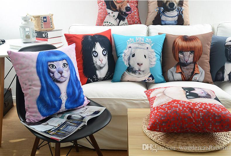 34 Styles Dogs Cats Portrait Cushions Pillows Covers Lady  : 34 styles dogs cats portrait cushions pillows from www.dhgate.com size 790 x 534 jpeg 109kB