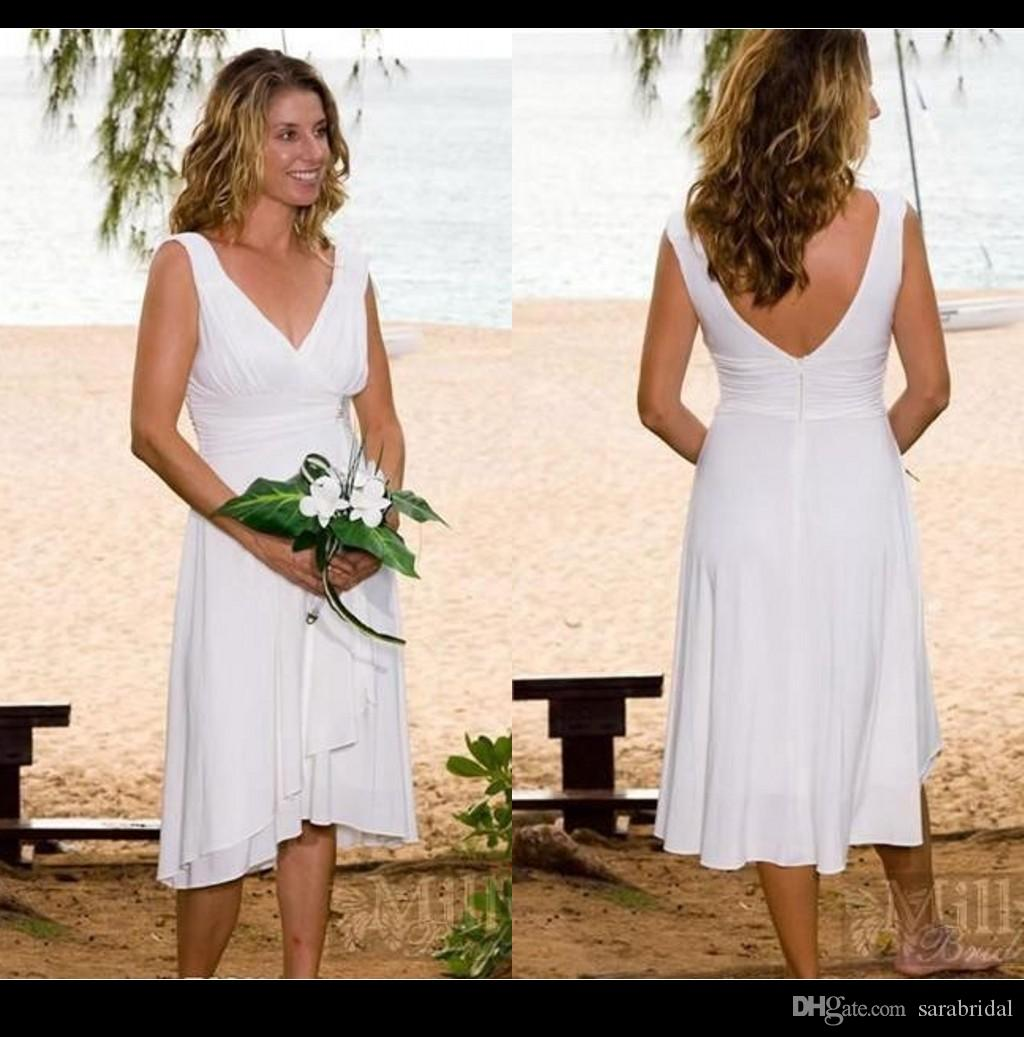 99 discount informal wedding dresses casual bridal gown for Casual flower girl dresses for beach wedding