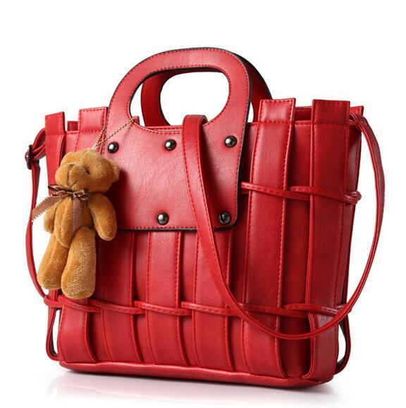 2016 Luxury Handbags Brand Women Bags Teddy Bears Thread Designer ...