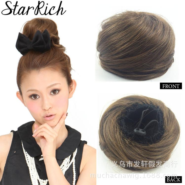 Human Hair Chignon Hair Pieces 15