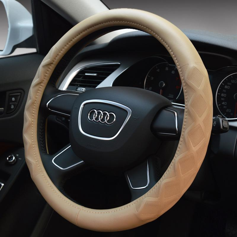 Korean automotive leather steering wheel cover handlebar for Mercedes benz steering wheel cover