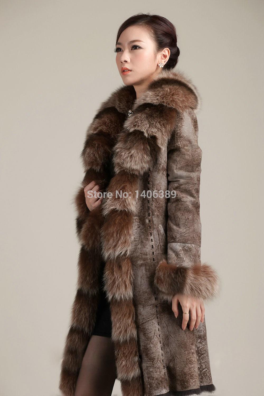 Wholesale DL6077 Luxury 100% Real Fur Jacket Genuine rabbit Leather Coats Women Winter Double faced Fur Coats X-Long coats, $743.74/Piece   DHgate Mobile