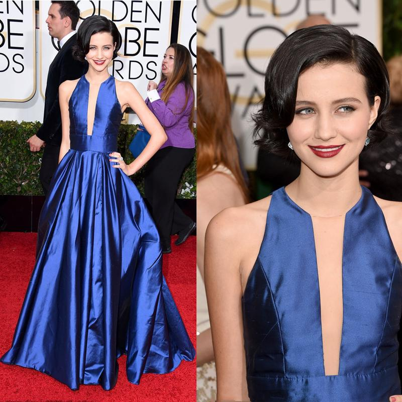 2015 Julia Goldani Telles Red Carpet Dress Vintage Crew Neck Sheer ...