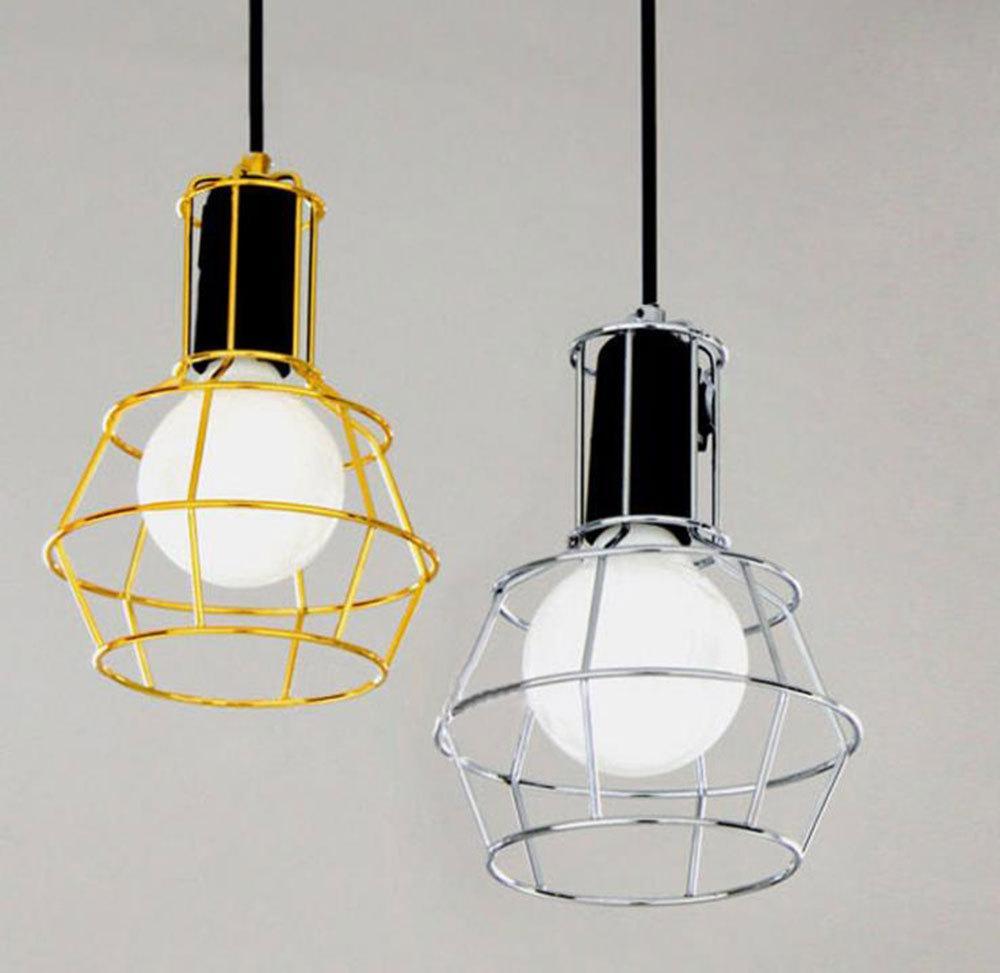 Loft Work Lamp Iron Mesh Bird Cage Pendant Light Brief