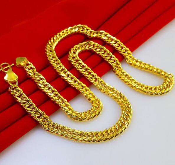 Gold Long Necklace Online 59cm Long Gold Necklace