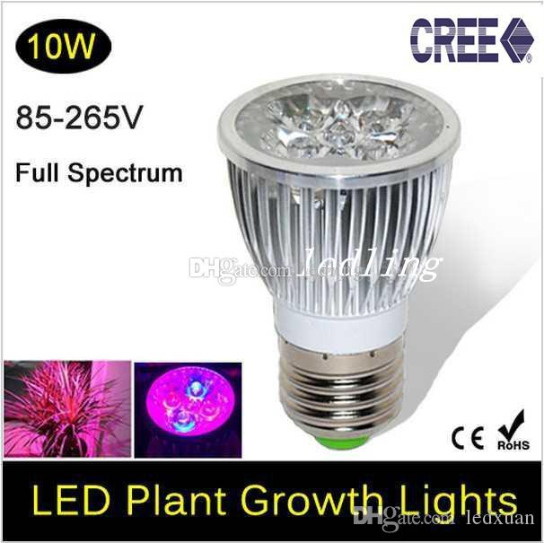 cree full spectrum led grow lights 10w e27 gu10 led grow lamp bulb for. Black Bedroom Furniture Sets. Home Design Ideas