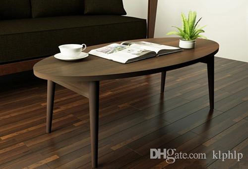 2017 Modern Wood Coffee Table Folding Legs Living Room