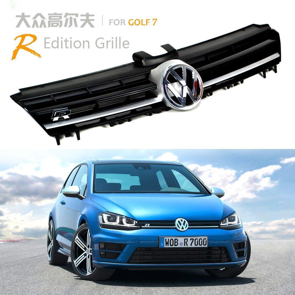 for volkswagen vw golf 7 golf7 mk7 gti vii r grille front. Black Bedroom Furniture Sets. Home Design Ideas
