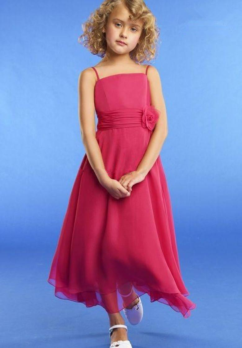 Red Bridesmaid Dresses For Little Girls Girls' Dresses Little Girl