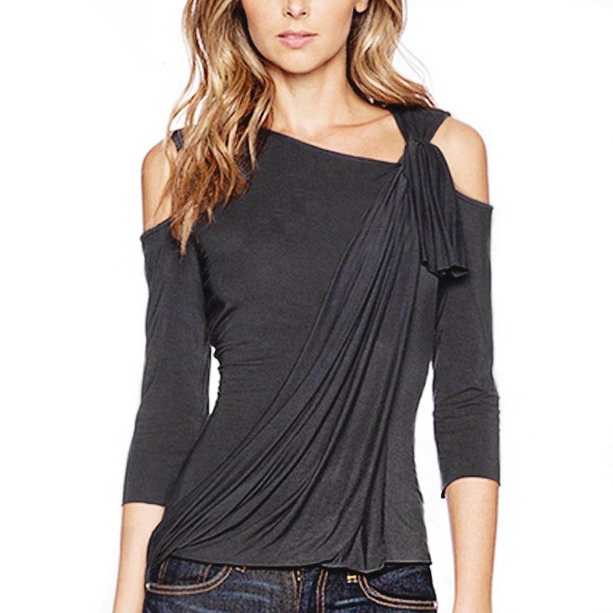 Shirt new design 2015 - 2017 New Design 2015 Autumn Sexy Women Off Shoulder Asymmetrical Hem Blouses Fashion Shirts Casual Solid Blusas Tops Plus Size From Goodday57
