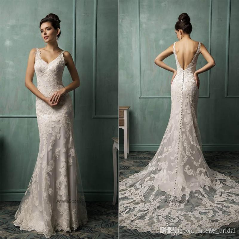2016 Wedding Dresses Backless Mermaid Wedding Dresses Lace Castle ...