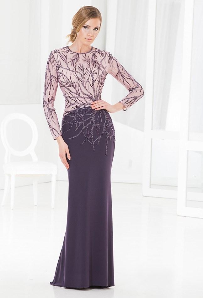 Purple Long Sleeve Mother of Bride Dresses